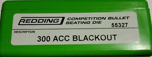 55327 Redding Competition Assise Die - 300 Aac Blackout-neuf-free Ship-afficher Le Titre D'origine