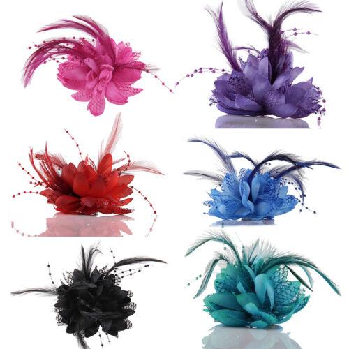 Eg /_ Braut Blume Feder Perlen Haarklammern Kopfschmuck Haarband Hochzeit