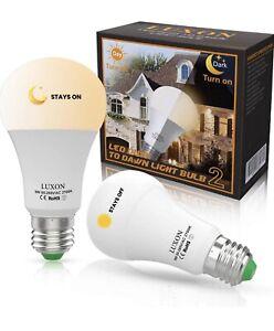 2-x-9W-E26-27-Dusk-to-Dawn-Auto-Sensor-Light-Bulb-Sensor-LED-Lamp-Warm-White