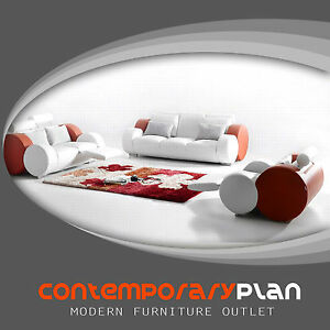Stupendous Details About Contemporary Italian Design Franco Sofa With Adjustable Headrest White And Red Ocoug Best Dining Table And Chair Ideas Images Ocougorg