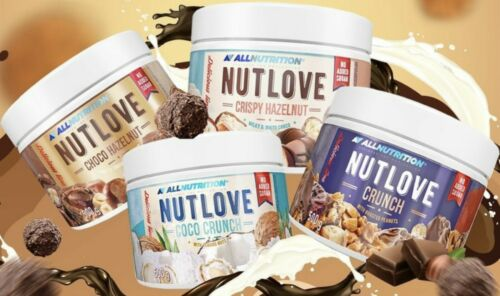 Free Delivery 4 different flavours 4 x Allnutrition Nutlove 500g