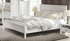 ... Landhaus Bett Doppelbett Ehebett Weiss Supermatt 180x200cm 215349