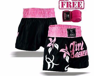 EVO Ladies Muay Thai Women Kick Boxing Shorts Girls MMA Martial Art Cage Fight H