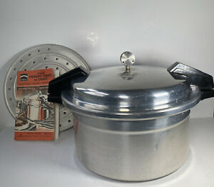 Vtg Mirro Matic Speed Deluxe Model Pressure Cooker Canner 12 Qt M-0512 Manual