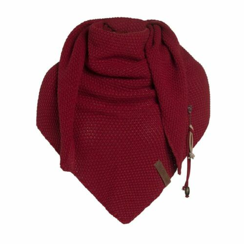 Knit Factory Coco triangle foulard wollmischschal Polaire Extra Doux Bordeaux