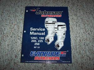 repair manuals for evinrude 130 motors