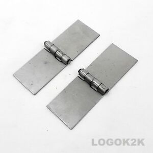 Pair-2pc-Backflap-Weld-On-Hinges-Strap-No-Holes-Heavy-Duty-35mm-x-100