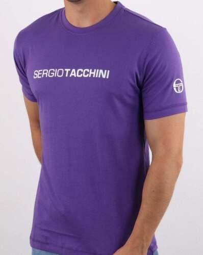 SERGIO TACCHINI LINEAR LOGO T Shirt PURPLE//WHITE