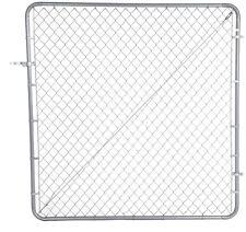 4 ft x 6 ft Galvanized Steel Adjustable Chain Link Fence Walk Thru Gate Kit New