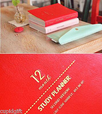 GMZ Study Planner Ver.2 Diary Journal Scheduler Organizer Agenda Blank Undated