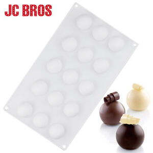 15 Cavities Round Ball Shaped Truffle Silicone Mold DIY Dessert Chocolate Mould