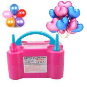 110V-600W-High-Power-Two-Nozzle-Color-Air-Blower-Electric-Balloon-Inflator-Pump