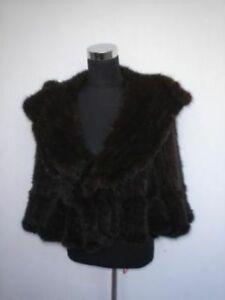 amp;up Women Knitted 14 Bolero Brand New Fur Jacket Mink ZqR18w7