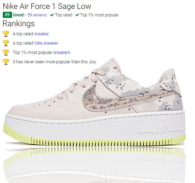 ✅ US9 EUR40.5 Nike Air Force 1 Sage Low