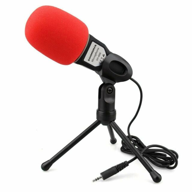New Condenser Sound Professional Microphone Mic w/ Stand For PC Laptop Skype MSN