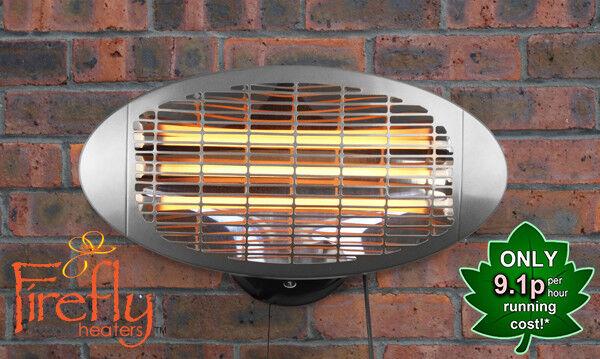 Estufas de Parojo Exterior 3 Opciones de Calor Firefly Terraza Calefactores