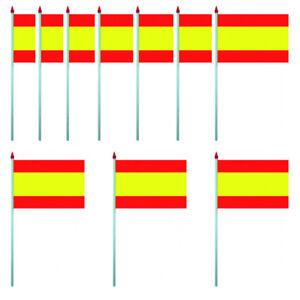 LOT-DE-10-DRAPEAUX-ESPAGNE-PAVILLON-10-X-15-CM