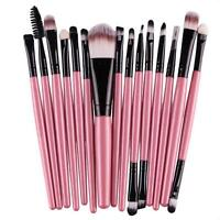 15 Pcs/sets Eye Shadow Synthetic Hair Eyebrow Lip Brush Soft Makeup Brushes Tool