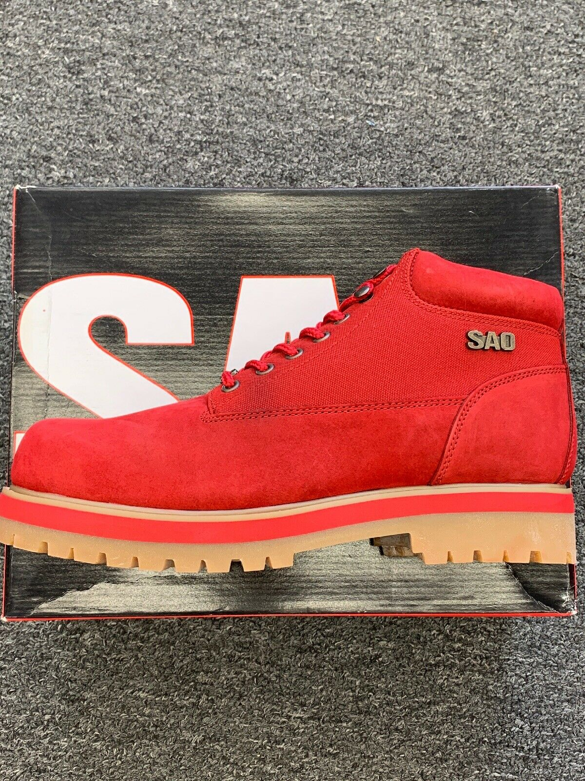 Mens SAO Red Boots Red Rider 63036 Size 8.5 M NWB VTG