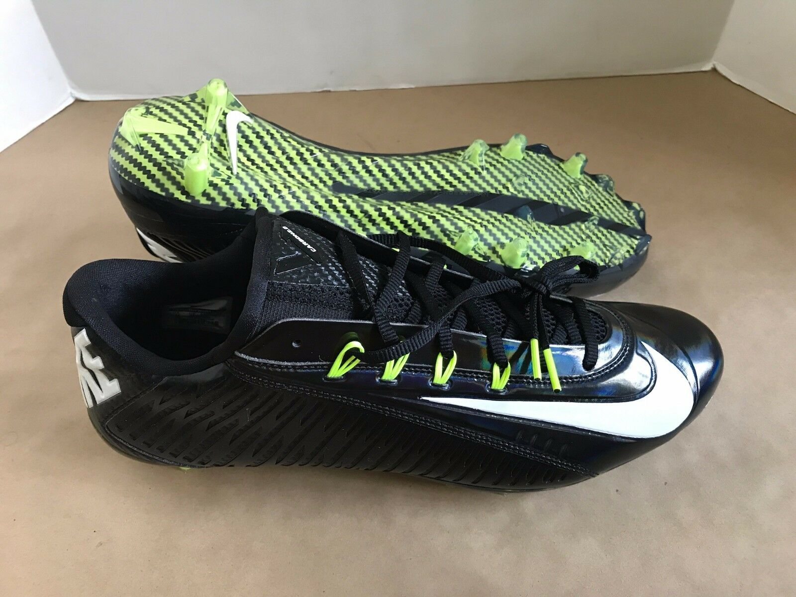 0b8c6e4957846 NEW NIKE VAPOR CARBON CARBON CARBON 2014 ELITE TD Football Cleats Black  MEN S Size 14 150