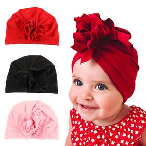 Image is loading Baby-Newborn-Flower-Turban-Hat-Infant-Elastic-Beanie- 6ff5534e7a7f