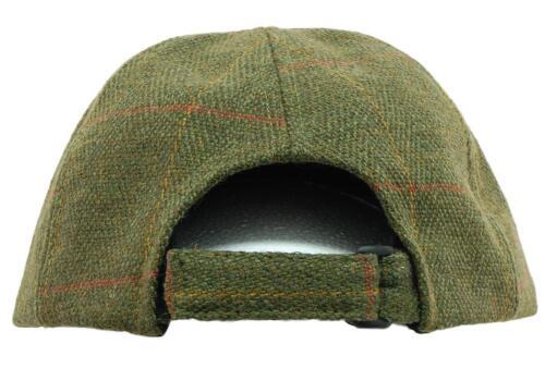 Walking 6C Deluxe Dark Derby Tweed Leather Baseball Cap Hat Fishing//Hunting