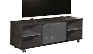 Munari Porta Tv.Dettagli Su Mobile Munari Mt150nene Porta Tv A 60 Pollici Nero 2 Vani Giorno Ante In Vetro