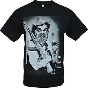 Image Is Loading Gangster Cantinflas Shirt AK 47 Marijuana Joint Funny