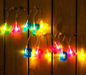 Image Is Loading HAPPY BIRTHDAY Letter Shaped LED Decoration Light 5