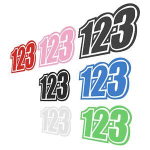 Vinyl-Race-Number-123-Stickers-Dirt-Bike-Motocross-Trials-Decals-15x12-5CM