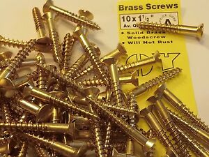 brass-wood-screws-no-10-X-1-1-2-034-COUNTERSUNK-SOLID-BRASS-SCREW-BS-1210