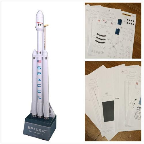Do it yourself échelle 1//160 modèle SpaceX Falcon Heavy Rocket papier 3D Modèle À faire soi-même Puzzle Kit