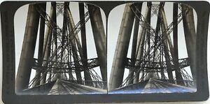 Forth-Bridge-Scozia-Scozia-UK-Fotografia-Stereo-Vintage