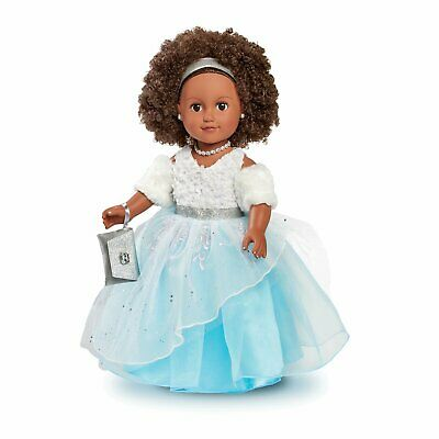 """NEW My Life As A Doll 18/"""" Poseable African American Winter Princess Doll"""