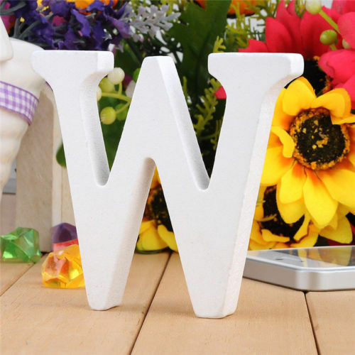 Freestanding A-Z /& Wood Wooden Letter Wedding Home Party DIY Alphabet Decoration