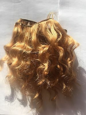 Human Hair Rooting Reborn Babies Toddlers Golden Blonde Wavey Waves NOT Mohair