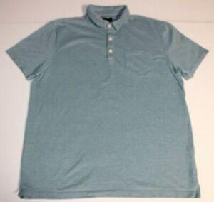 Homme-Banana-Republic-Wicking-Pique-Manches-Courtes-a-manches-courtes-Polo-Shirt-XL-baltique-bleu