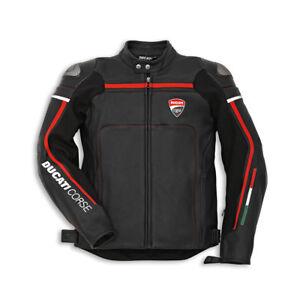 DUCATI Dainese CORSE ´14 Lederjacke Jacke Leather Jacket perforiert schwarz NEU