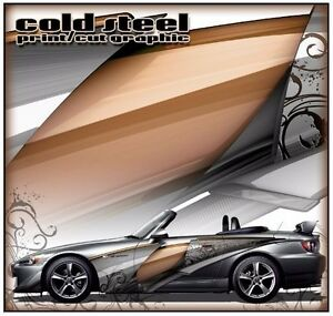 Cold Steel Go Kart Race Car Vinyl Graphic Decal Half Wrap