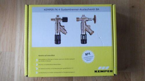 "Kemper FK-4 Systemtrenner Auslaufventil BA DN 1//2/"" 12101 36701 Füllarmatur Neu"