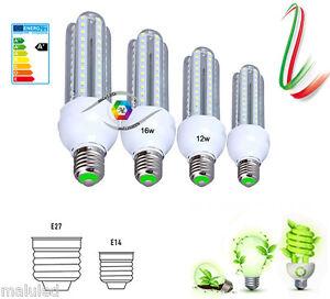 LAMPADINA-LED-E27-E14-12W-16W-RISPARMIO-ENERGETICO-220-240V