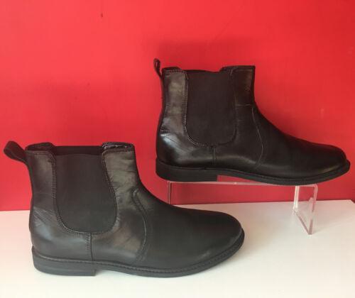 Nächste Bnwot Chelsea Boots Uk Leder Lässige Ankle Komfort Eur Flache 40 Schwarze 7 tQorCshxBd