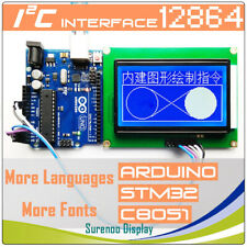 30 128x64 12864 Rs232 Uart Serial Iic I2c Matrix Graphic Lcd Module Display