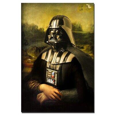 Star Wars Darth Vader Mona Lisa Segeltuch Film Bild Portrait Kunst Deko Leinwand