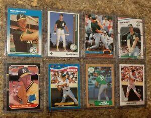8-Mark-McGwire-1987-Donruss-Fleer-Topps-Rookie-Card-Lot-RC-1989-Upper-1990-Leaf