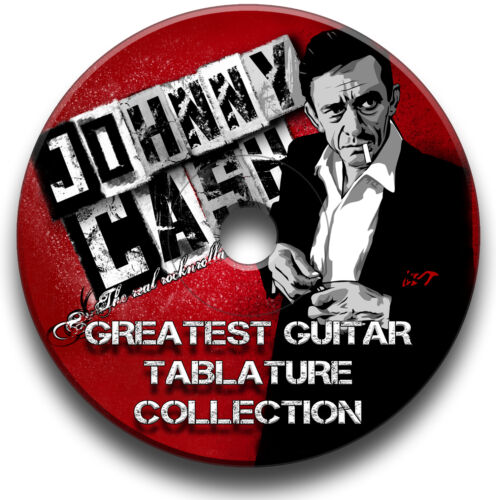 JOHNNY CASH ROCK BLUES COUNTRY GUITAR TABS TABLATURE SONG ANTHOLOGY SOFTWARE CD