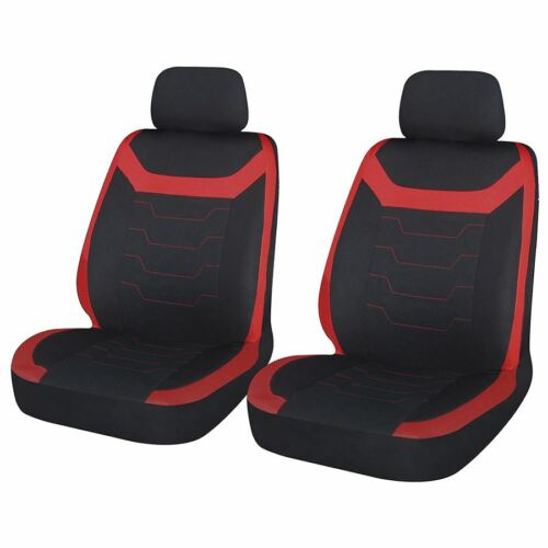 Red Black Look Pair Front Pair Car Seat Covers for Kia Picanto All Years