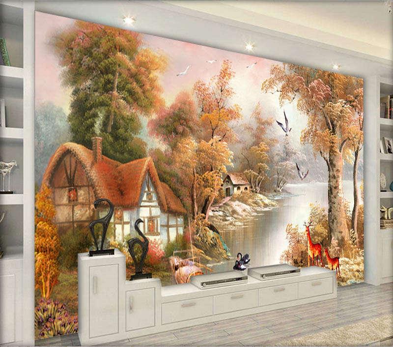 Casual Vast Woods 3D Full Wall Mural Photo Wallpaper Printing Home Kids Decor
