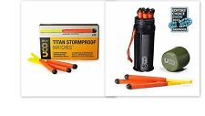 Titan Stormproof Match Kit 12 Matches plus 25 Match Box Combo 25 Sec Burn Time