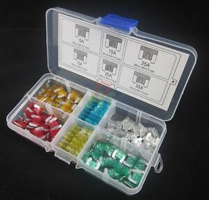 120pc-Assorted-Auto-Car-Low-Profile-Micro-Mini-Blade-Fuse-5A-10A-15A-20A-25A-30A